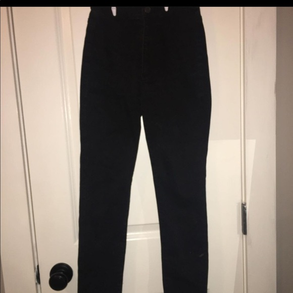 Black high waisted skinny jeans from garage
